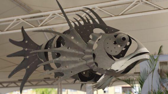 Escultura Caballito de Mar y Pez